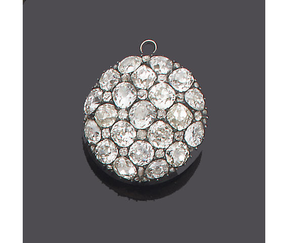 A late 19th century diamond locket/pendant,