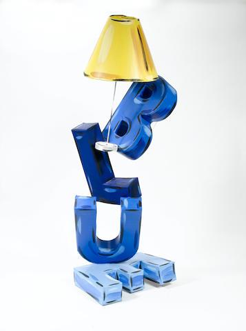 Julian Opie (b.1958) Blue 171 cm. (67 3/8 in.) high