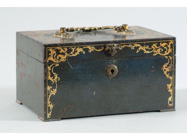 A 19th Century iron jewellery casket