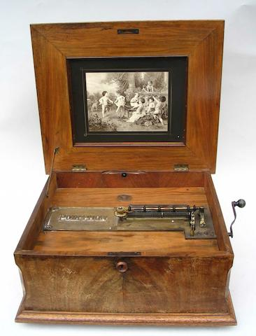 A Polyphon style 43B disc musical box