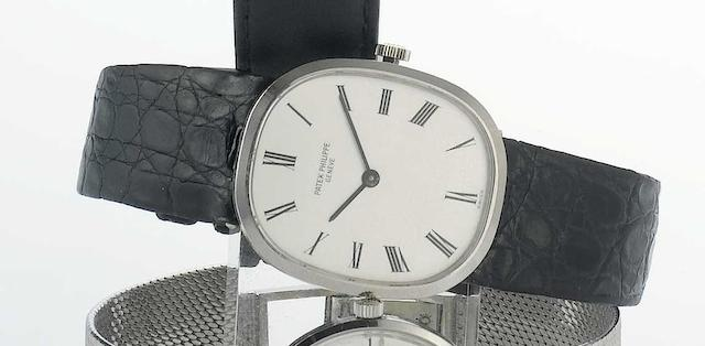 Patek Philippe. An 18ct white gold wristwatch Elippse, Ref:3548, Movement No.11210033, Case No.2713182, 1960s
