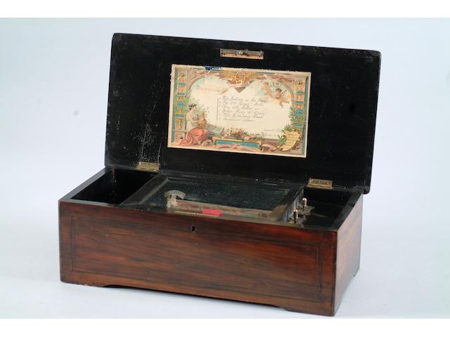 A 19th Century musical box