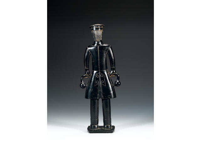 A Haida argillite figure of a Russian sea captain (118) 32cm.
