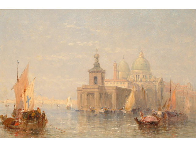 John Vivian (British 19th Century) 'Canale Grande with Maria della Salute'. 41 x 60.5 cm(16 x 23 1/2 in)
