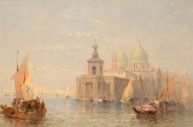 John Vivian (British 19th Century) 'Canale Grande with Maria della Salute'. 41 x 60.5 cm(16 x 23 1/2 in)