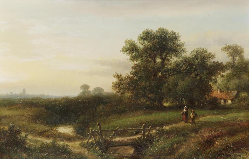 Lodewijk Johannes Kleijn (Dutch 1817-1897) Summer landscape; Winter landscape each 30.5 x 46 cm. (12