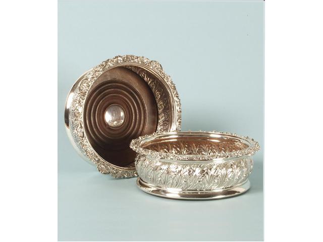 A pair of George IV coasters,
