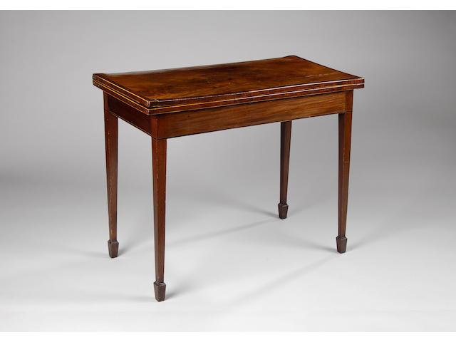 A George III mahogany card table