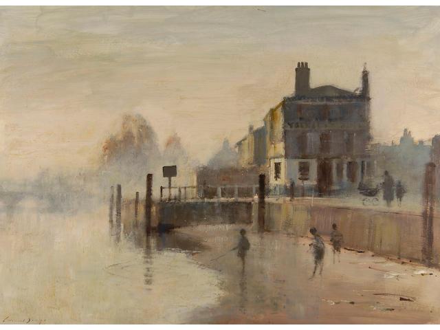 Edward Seago, R.W.S. (1910-1974) 'Early morning, Richmond' 66 x 91.5cm (26 x 36in).