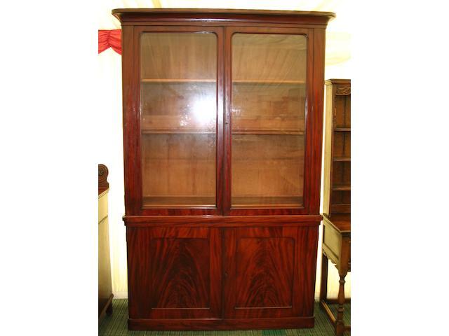 A Victorian mahogany tall bookcase