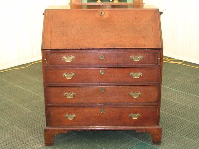 A Late 18th Century oak bureau