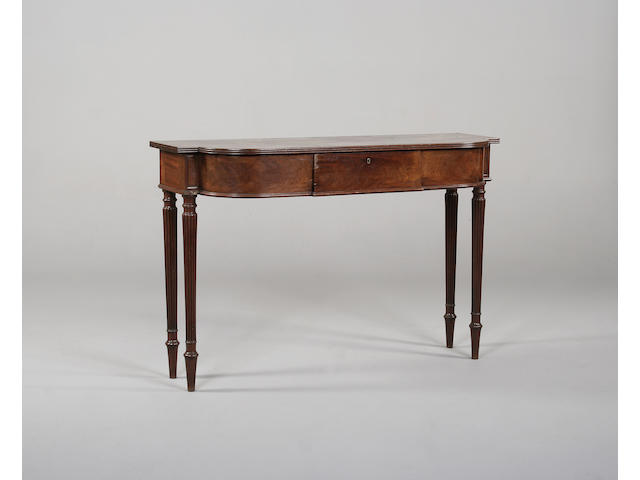 A Regency mahogany serving table