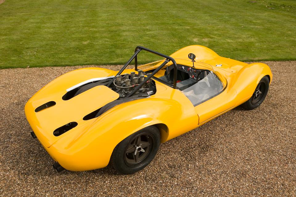 The Ex-JCB team, Trevor Taylor, Peter Sadler,1965 Lotus-Ford Type 30 Group 7 Sports-Racing Two-Seater  Chassis no. 30 S2 09 Engine no. XE93532