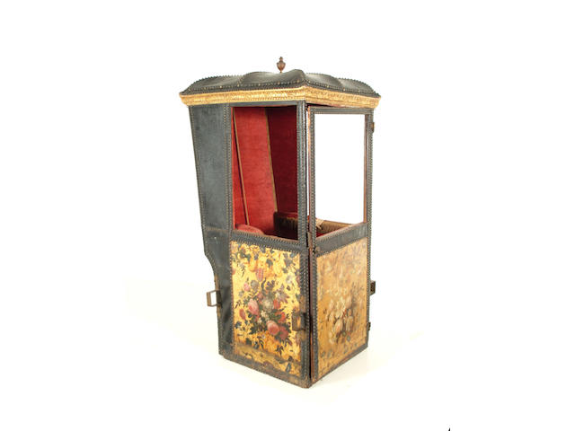 An 18th Century Venetian sedan chair