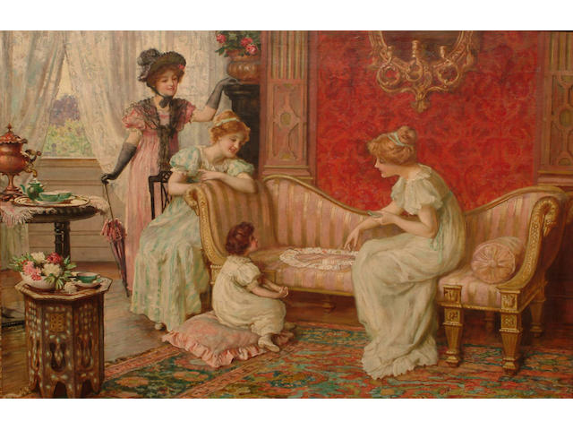 Sydney Muschamp (British, fl.1870-1903) A game of patience.