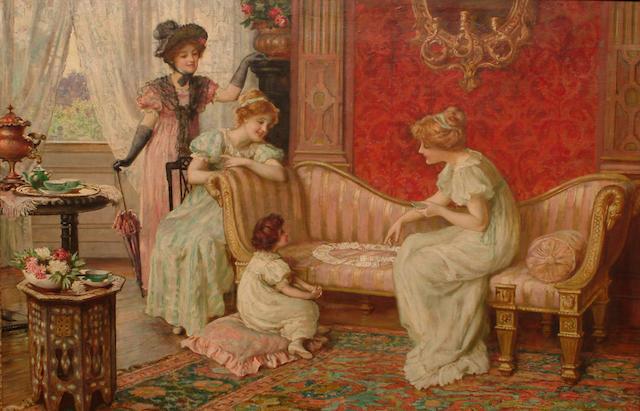 Sydney Muschamp (British, fl.1870-1903) A game of patience.