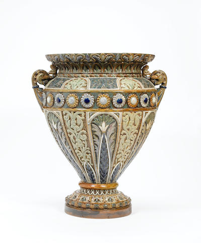 A Monumental Doulton Exhibition Vase by Frank Butler