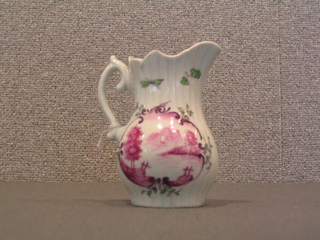 A good Worcester moulded milk jug circa 1756-58
