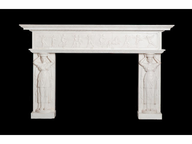 An 18th Century marble chimneypiece