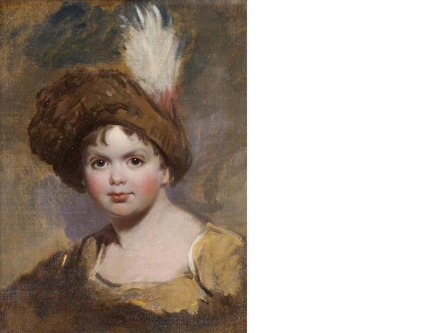 (29888) Attributed to Thomas Lawrence, unfinished portrait of a boy FOR RESEARCH