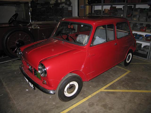 1961 Austin Mini Saloon  Chassis no. AA2S7D158067M Engine no. 8AMUH508919