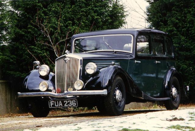 1937 Wolseley 18/80 Salon de Ville  Chassis no. 218/2623 Engine no. 2084