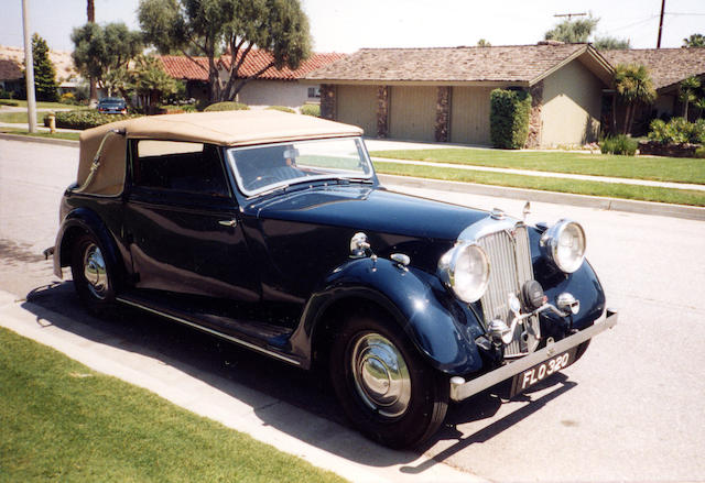 1939 Rover 14hp Drophead Coupé  Chassis no. 931315 Engine no. 931315