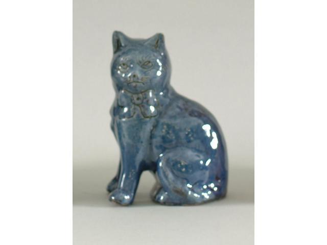 A Ewenny pottery kitten 1918