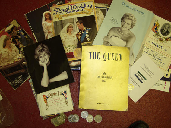 An assortment of royal memorabilia
