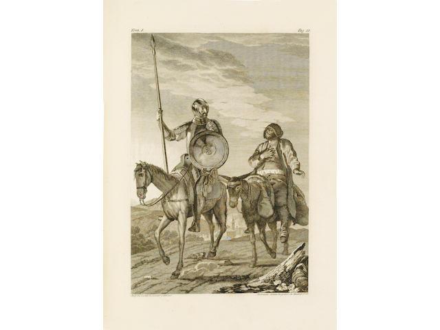 CERVANTES SAAVEDRA (MIGUEL DE) El ingenioso hidalgo Don Quixote de la Mancha... nueva edicion corregida por la Real Academia Española, 4 vol.