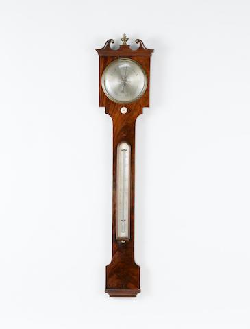 A rare early 19th century mahogany barometer Davis, London