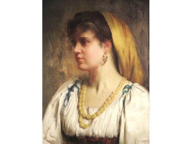 R E Morrison (19thc) The yellow necklace