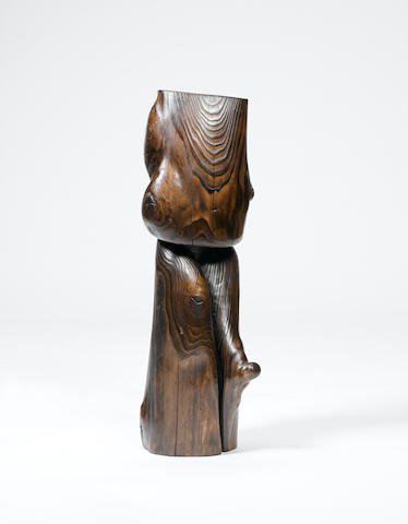 Wang Keping (b.1949) Sans titre (totem) 69 cm. (27 1/8 in.) high