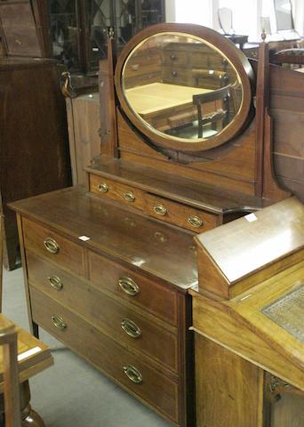 A large Edwardian mahogany dressing table