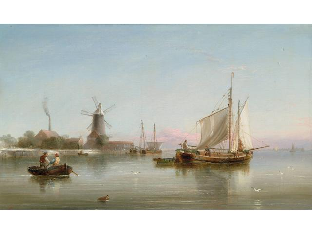 Henry Redmore (1820-1887) Shipping on the Humber estuary at dawn