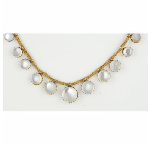 A Victorian moonstone fringe necklace