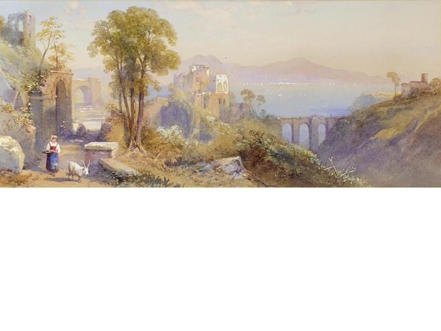 Thomas Charles Leeson Rowbotham R.W.S. (British, 1823-1875) Lake Como; Near Sicily, a pair 20.3 x 46