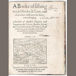 MASCALL (LEONARD) A Booke of Fishing with Hooke & Line, and of all other Instruments thereunto belon
