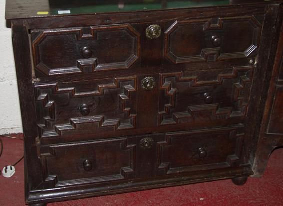 An 18th Century oak chest