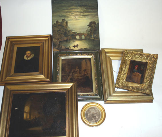 An assortment of paintings and prints