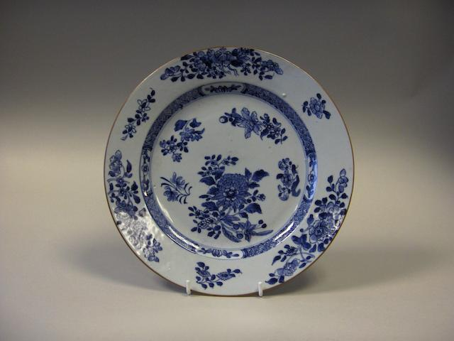 A large Chinese porcelain plate