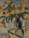 Stanley Grimm (British, 1891-1966) Vase of Yellow Flowers.