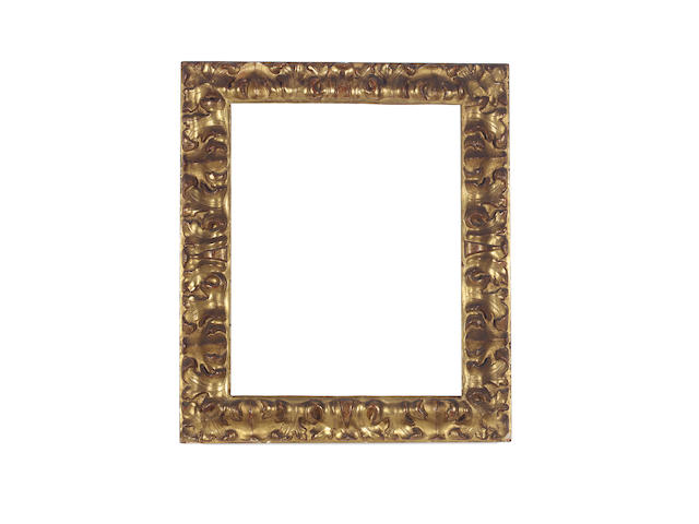 A Bolognese 17th Century carved and gilded frame