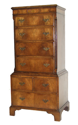 A 20th Century mahogany chest on chest
