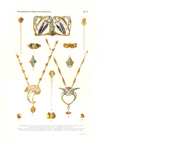 Paul Follot- Orfeverie et Bijouterie Modernes A folio of Art Nouveau silver and jewellery designs