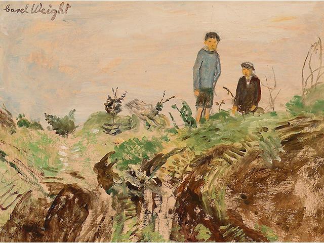 Carel Weight (British, 1908-1997) Two Boys on a Heath.