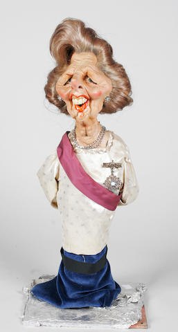 Spitting Image Pre-production Maggie Thatcher