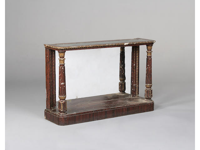 A William IV faux rosewood console table