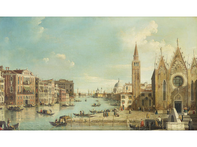 Attributed to William James (active 1754-1771) The Grand Canal, 38.5 x 64 cm. (15 1/8 x 25¼ in.)