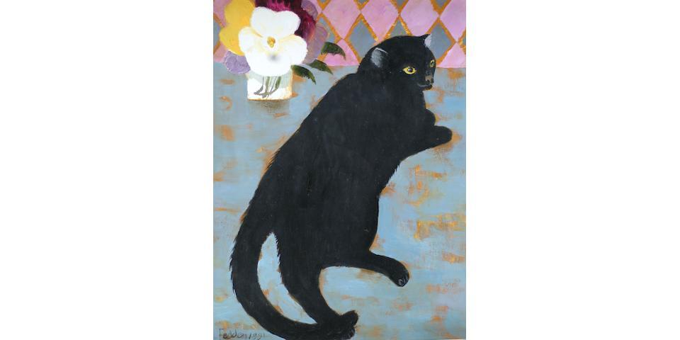 Mary Fedden R.A. (British, born 1915) 'Lulu' 44 x 34cm